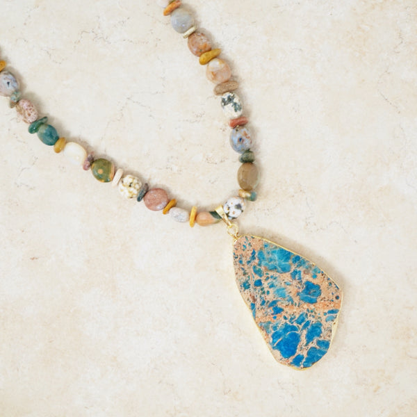 Ocean Jasper Gemstone Necklace