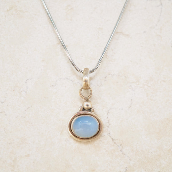 Sterling Silver Chalcedony Necklace