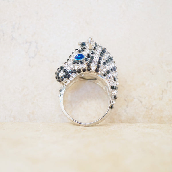 Zebra Cocktail Ring