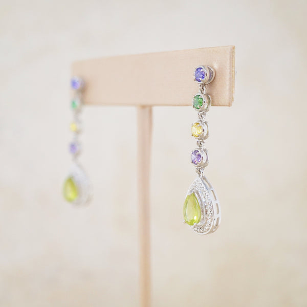 Sterling Silver & Swarovski Drop Earrings