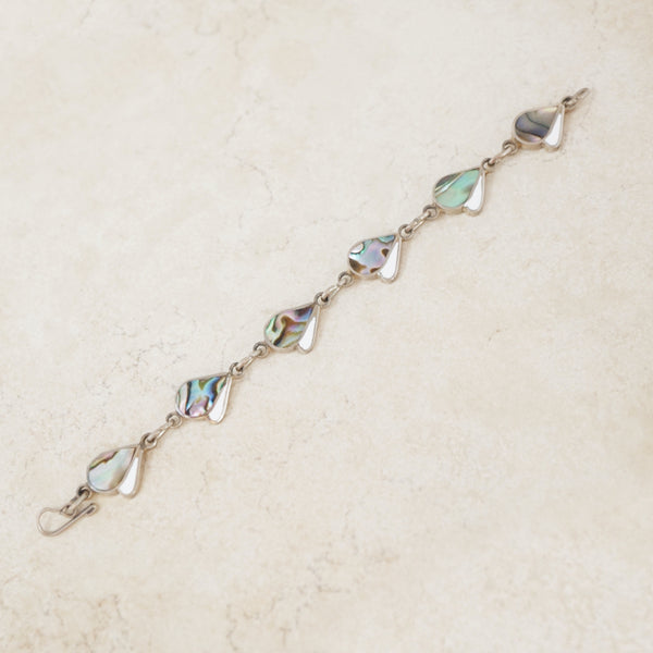 Vintage Abstract Abalone Bracelet, 1990s