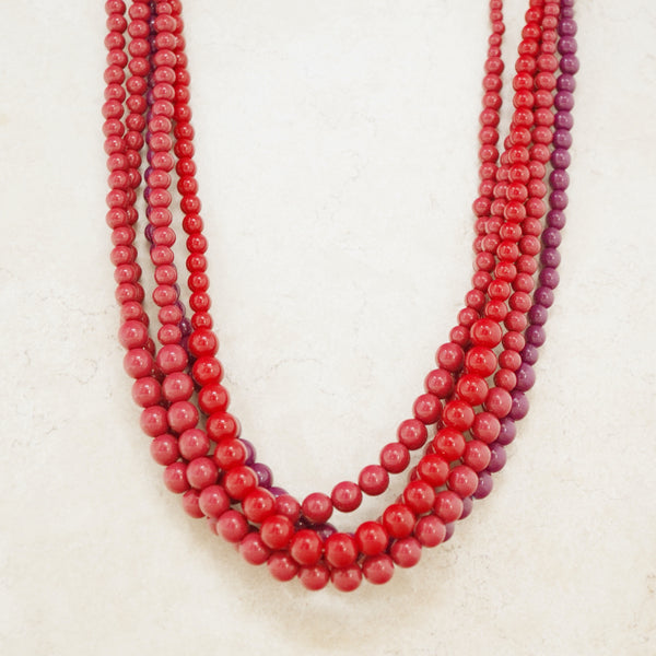 Vintage Five Strand Beaded Necklace by Trifari, 1970s