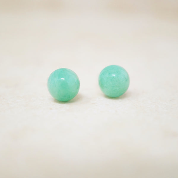 Jade Gemstone Stud Earrings