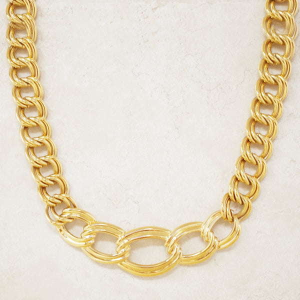 Vintage Gilded Chunky Chain Necklace by Napier, 1980s