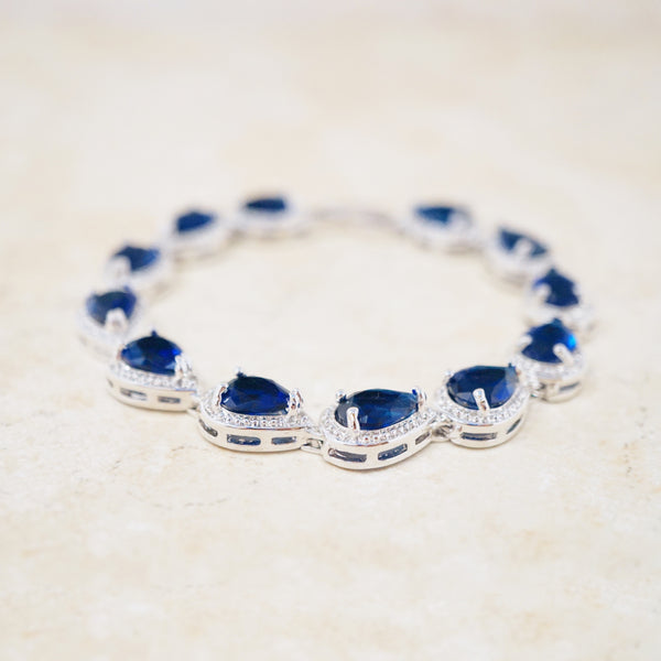 Royal Blue Crystal Tennis Bracelet
