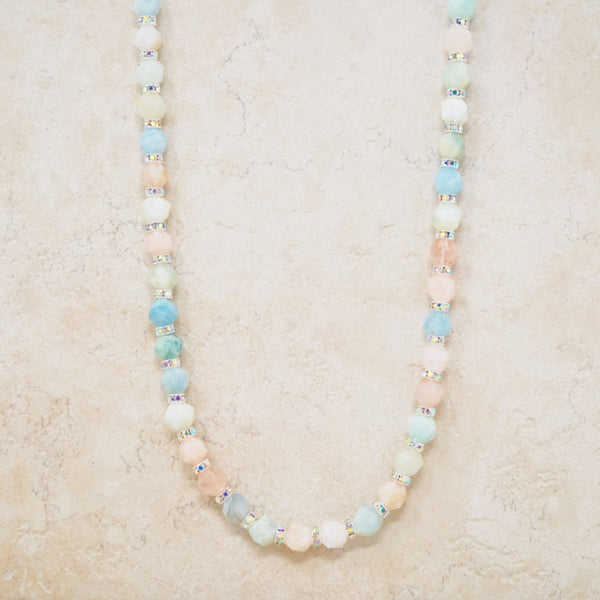 Morganite Rondelet Necklace