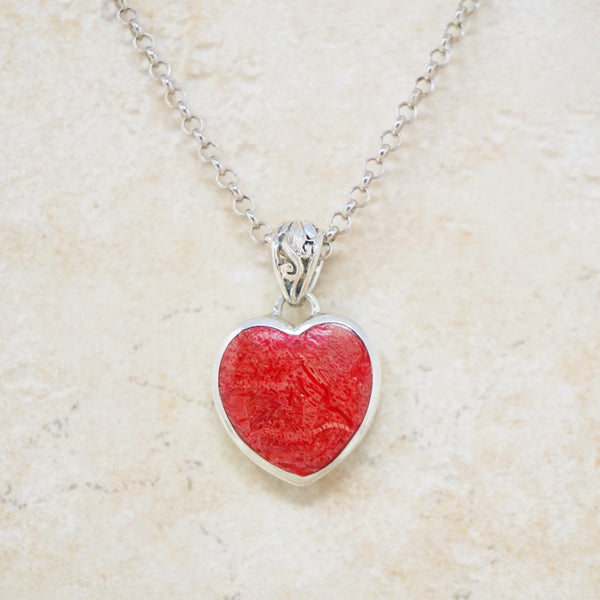 Sterling Silver Queen Of Hearts Necklace