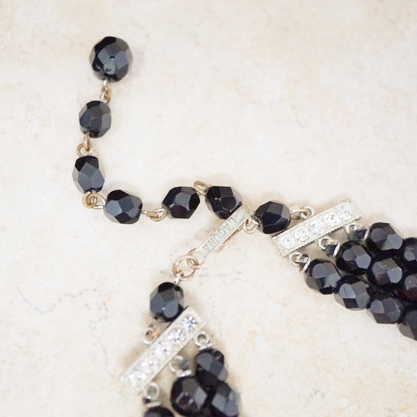 Onyx Triple Strand Necklace
