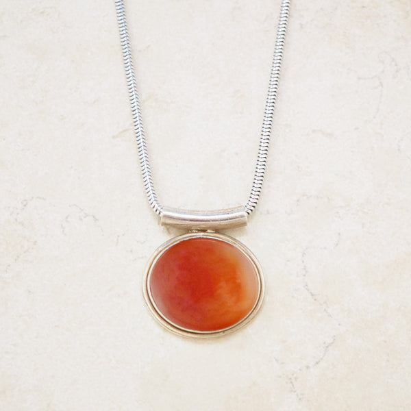 Sterling Silver Carnelian Necklace