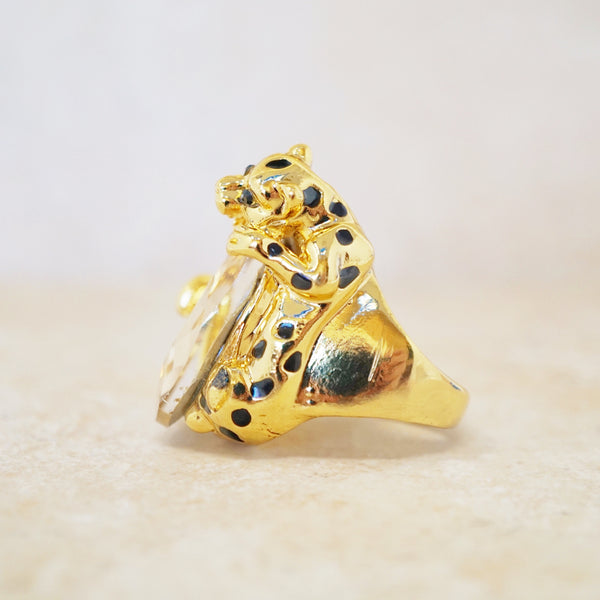 Gold Leopard Cocktail Ring