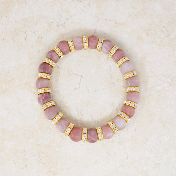 Strawberry Quartz Gemstone Bracelet
