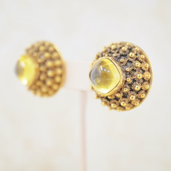 Amber Earrings by Trifari