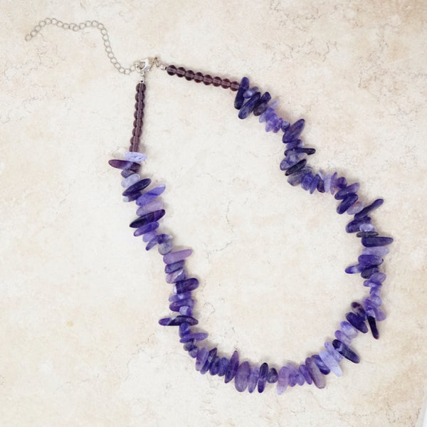 Amethyst Quartz Gemstone Necklace