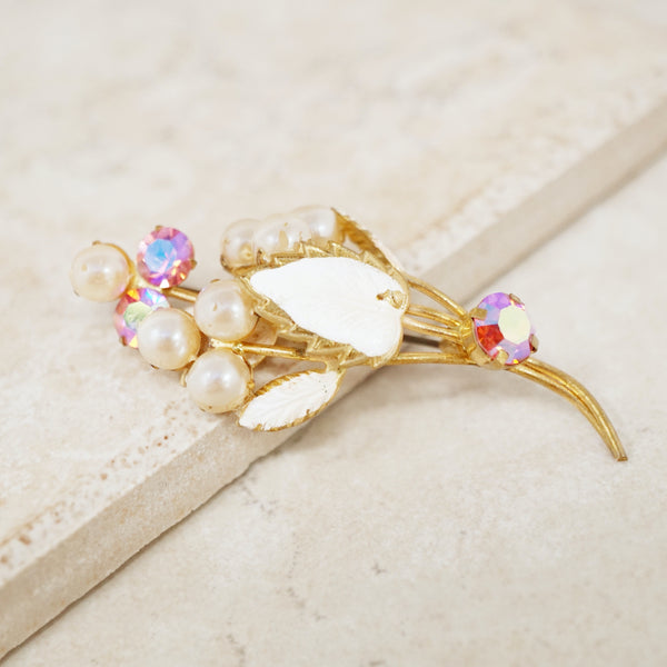 Vintage Pink Bouquet Brooch