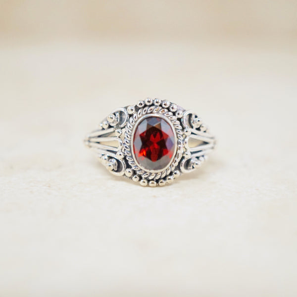 Sterling Silver Crimson Ring