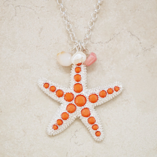 Silver Starfish Necklace