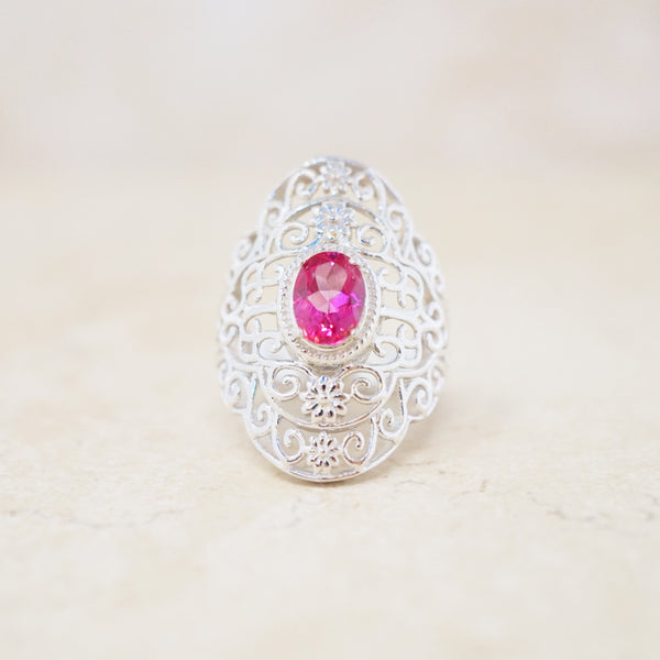 Pink Topaz Gemstone Ring