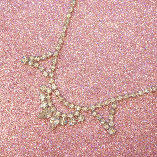 "Vintage Swarovski Rhinestone ""Look of Fine Jewelry"" Necklace, 1950s"