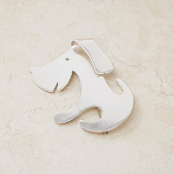 Vintage Sterling Silver Taxco Puppy Dog Brooch, 1970s