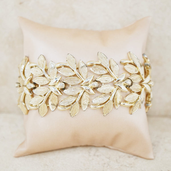 Vintage Golden Leaves Bracelet