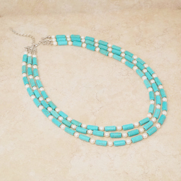 Triple Strand Turquoise Necklace