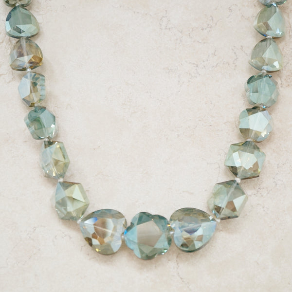 Chunky Green Crystal Necklace