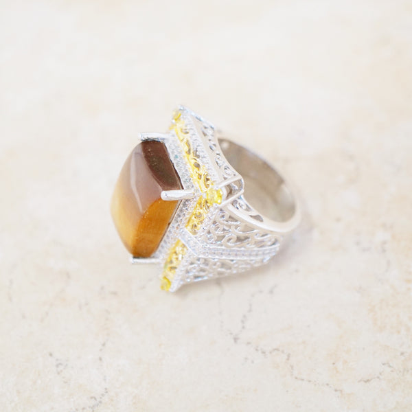 Sterling Silver & Tiger's Eye Ring