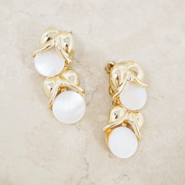 Vintage Mother of Pearl Ear Climbers
