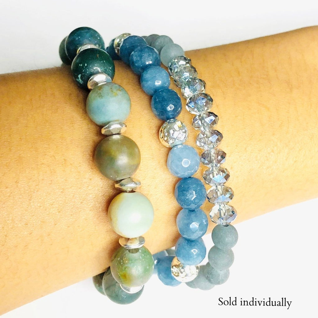 Blue Jade Gemstone Bracelet