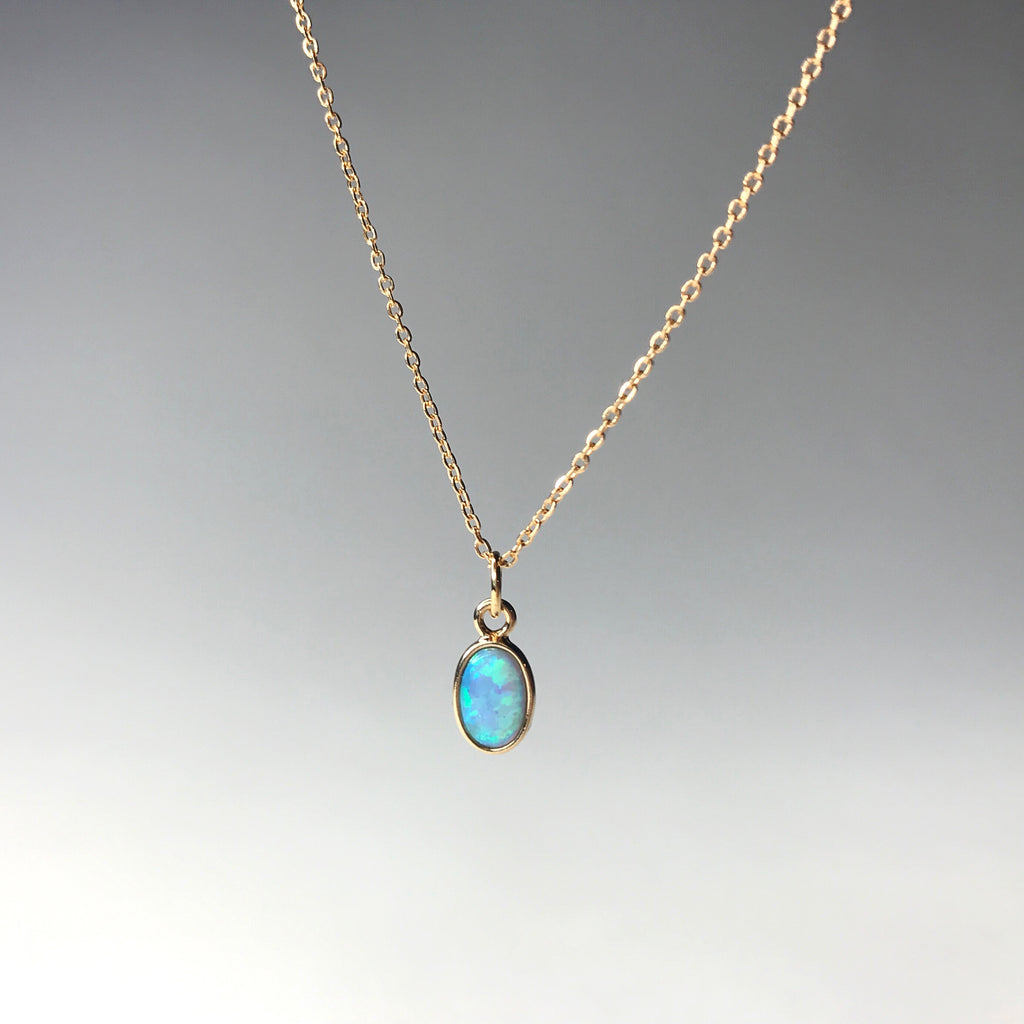 necklace delicate october opeb blue hwstar pendant birthstone opal products gemstone stone agate jewelry geode