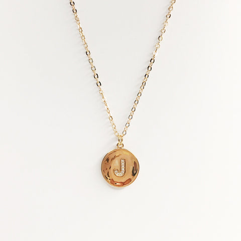 Pavé Initial Necklaces