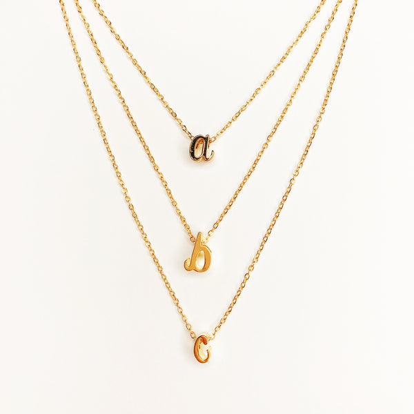 Initial Necklaces (Gold)