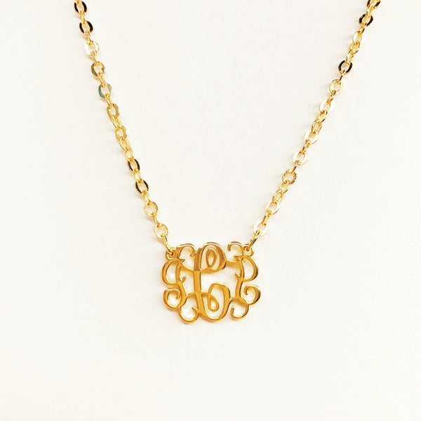 Fancy Monogram Necklaces