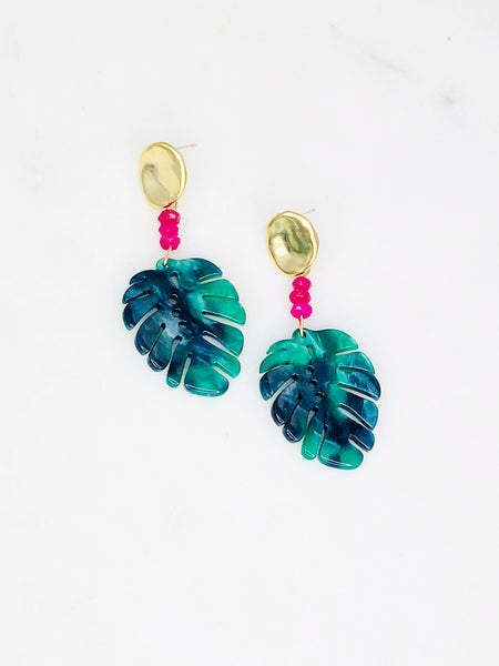 Lahaina Palm Leaf Earrings
