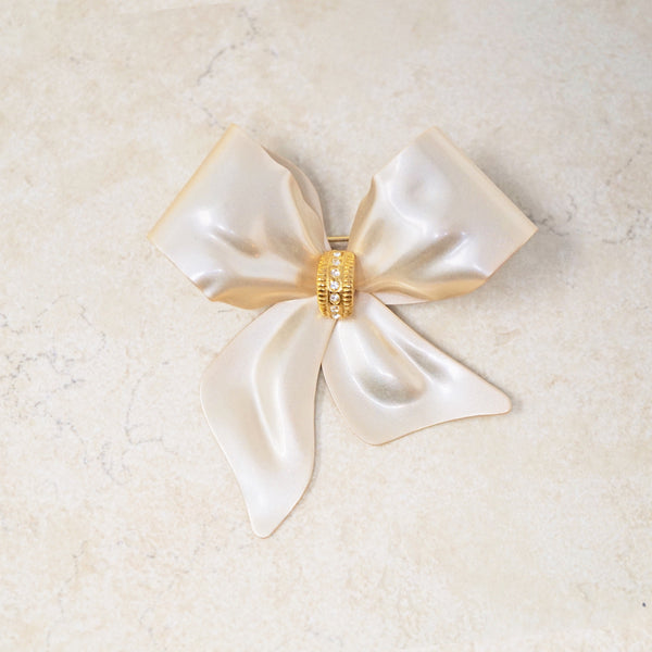 Champagne Bow Brooch
