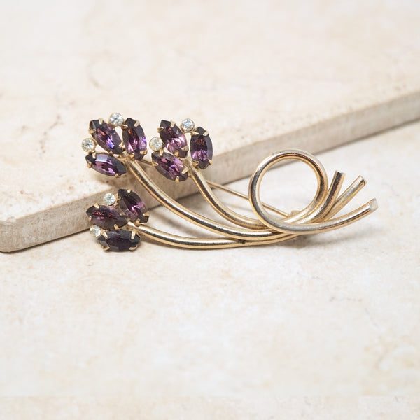 Purple Tulip Brooch