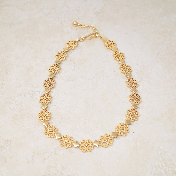 Baroque Gold Choker Necklace