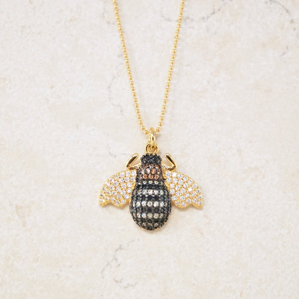 Honeybee Pavé Necklace
