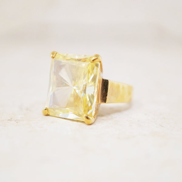 Gold Vermeil Citrine Cocktail Ring