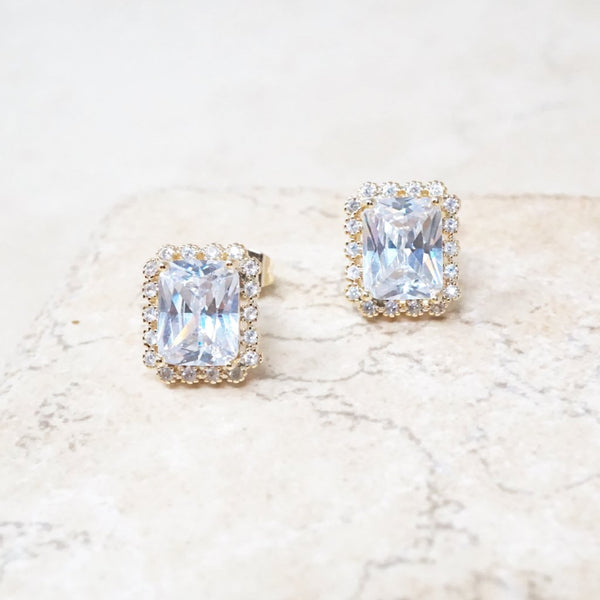 Baguette Crystal Earrings