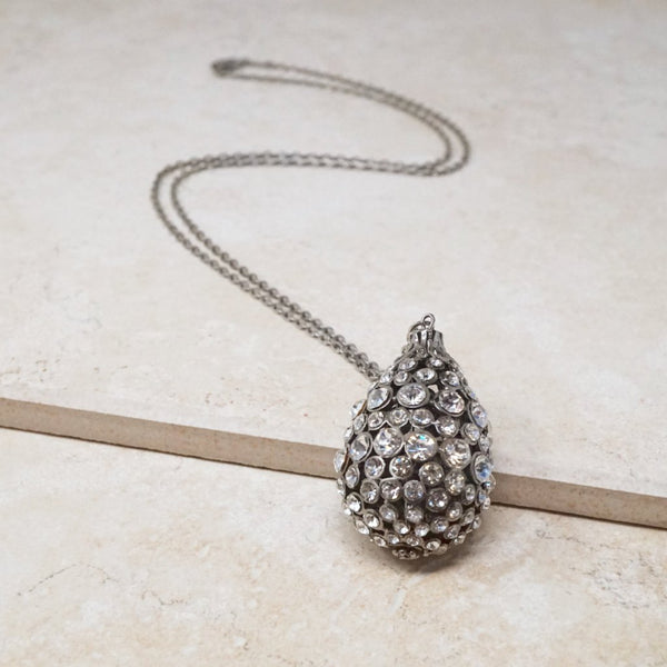 Vintage Crystal Teardrop Necklace