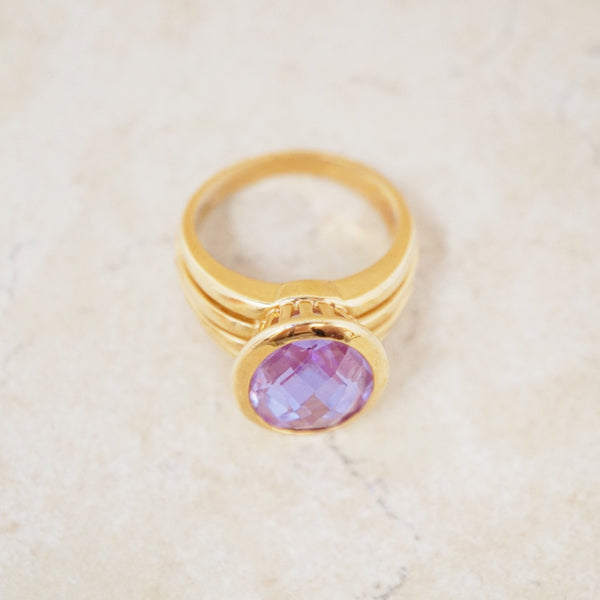 Gold Vermeil Amethyst Ring