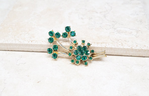 Emerald Bouquet Brooch