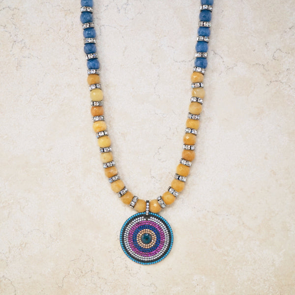 Jade Evil Eye Rondelet Necklace