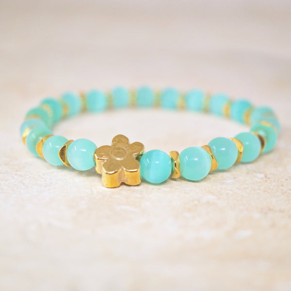 Mint Cat's Eye Gemstone Bracelet