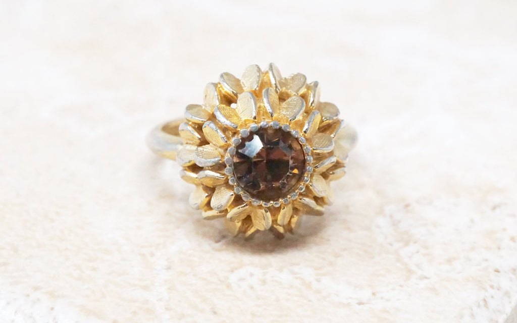 Topaz Floral Cocktail Ring