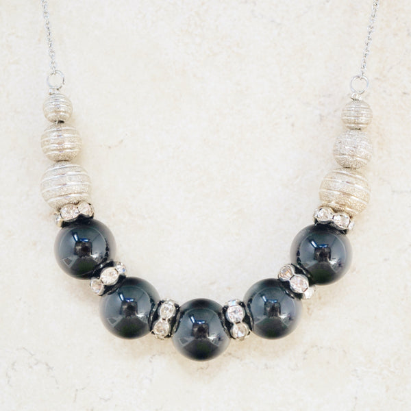 Onyx Bead Necklace