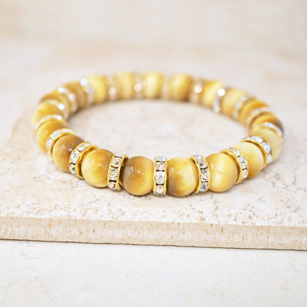 Golden Tiger's Eye Gemstone Bracelet