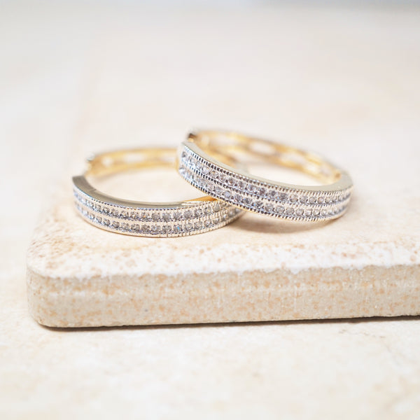 Charlotte Pavé Hoop Earrings