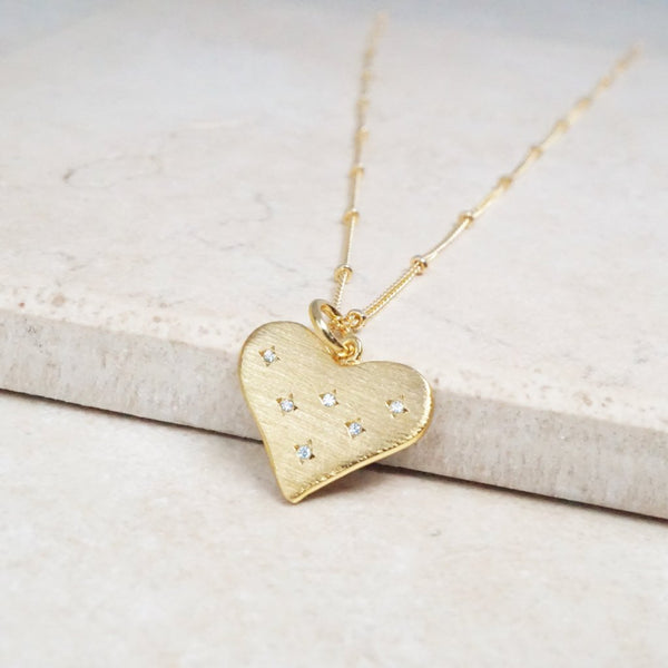 """Heart of Gold"" Diamond Necklace"